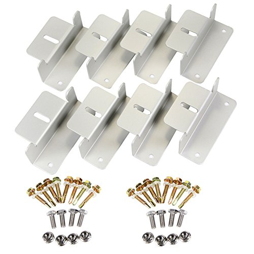 CoZroom Solar Panel Mounting Z Bracket with Bolts, Nuts Set of 4 Units, Set of 2