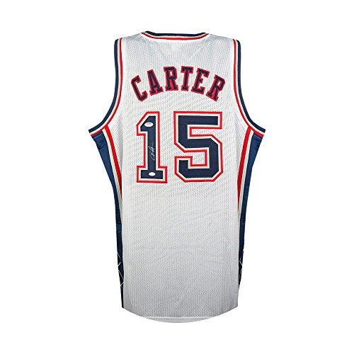 Vince Carter Autographed New York Nets White Custom Jersey - PSA COA (Vince Carter Nets Jersey)