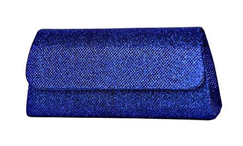 soirée bag fashion Mod Satin Bleu 2092by sac Clutch formel de Pochettes qwEUI4