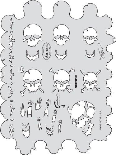 - Artool Freehand Airbrush Templates, Skull Master Multiple