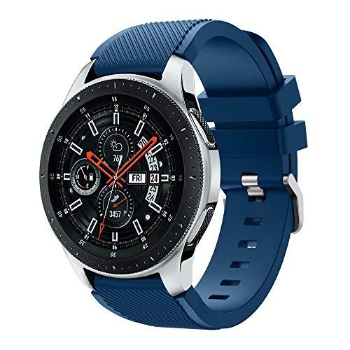 Baohooya Correa de Reloj para Samsung Galaxy Watch 46mm – Moda Sports Pulsera de Reloj – Repuesto Liberación Rápida…