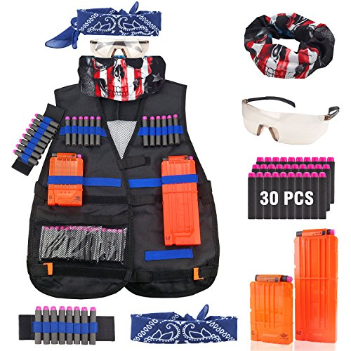 Tactical Vest Jacket Kit for Nerf Guns N-Strike Elite (Crazy Bandanas)