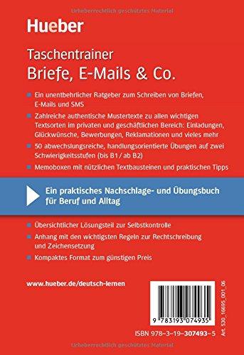 Briefe E Mails Co Beispiele Und übungen Buch Deutsch üben