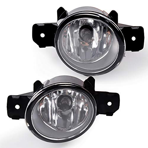 Clear Lens Fog Lights H11 12V 55W Halogen Lamp For 07-08 Nissan Maxima/ 07-11 Nissan Rogue/ 08-10 Infiniti M35/M45/ 04-10 Nissan Sentra - (Will not fit SE-R) ONE Pair