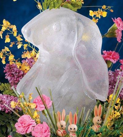 (Reusable Bunny Ice Sculpture Mold)