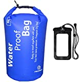 navy seal bag - Freegrace Waterproof Dry bag - Lightweight Dry Sack with Seals and Waterproof Case -Float on Water -Keeps Gear Dry for Kayaking, Beach, Rafting, Boating, Hiking, Camping and Fishing (10L, Navy Blue)