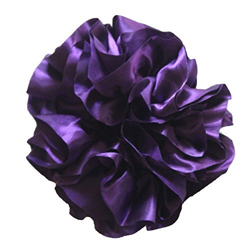 Price comparison product image Volumising Scrunchie Hair Tie Ring Hijab Volumizer Headwear Rubber Band Purple