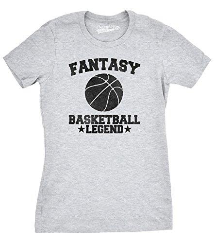 Crazy Dog Tshirts Womens Fantasy Basketball Legend Funny Favorite Sport T Shirt - Femme