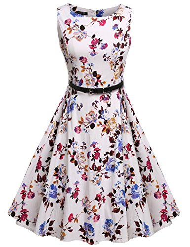 ACEVOG-Sleeveless-Cotton-Vintage-Tea-Dress-with-Belt