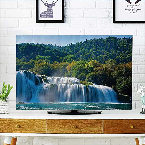 """Front Flip Top ecti Waterfall The River and Forest Wild Space Life Earth Front Flip Top W36 x H60 INCH/TV 65"""""""