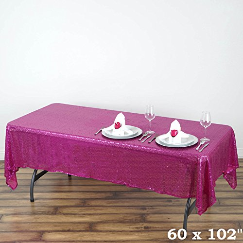 Glitter pink tablecloth