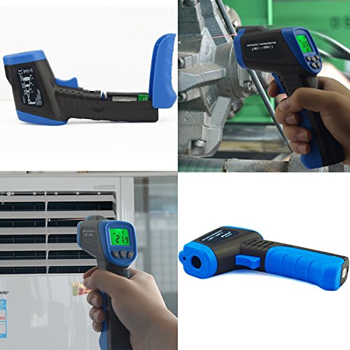 HOLDPEAK 981C Non-Contact Digital Laser Infrared Thermometer Temperature Gun Instant-read -58 to 1022℉ (-50 to 550℃) with 9V Battery and Emissivity 0.1-1.0(Adjustable) by H HOLDPEAK (Image #4)