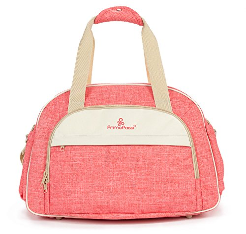 (Primo Passi Multifunction Large Capacity Travel Nursing Diaper Bag for Girl Pink)