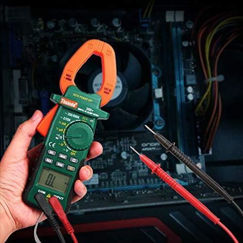 Pince /à mesurer Batterie pour AC//DC Multim/ètre sans contact avec pince 2000 pi/èces Amp/èrem/ètre avec c/âble de mesure Tension de tension Voltm/ètre