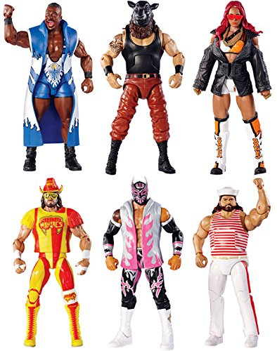 WWE ELITE 44 - COMPLETE SET OF 6 MATTEL TOY WRESTLING ACTION FIGURES