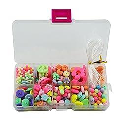 Lbyurs Amblyopia training Colorful Children Plastic Jewelry DIY Beads kits Bracelet Crafts (10 Styles)