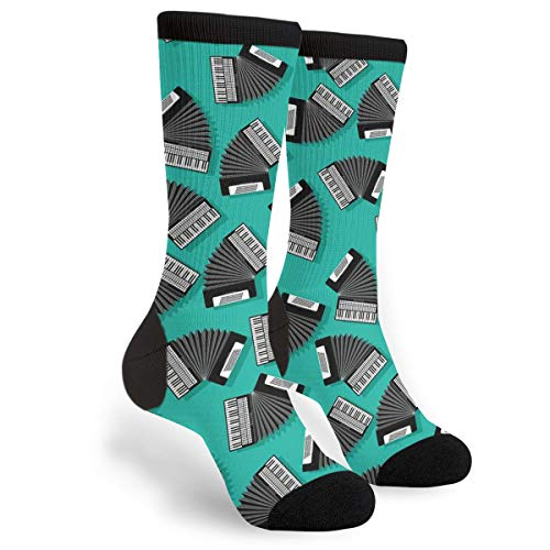 Accordion Instrument Novelty Socks For Women & Men One Size - Gifts ()