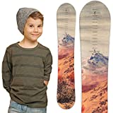 Snowboard Wooden Growth Chart by Growth Chart Art (Mountain)