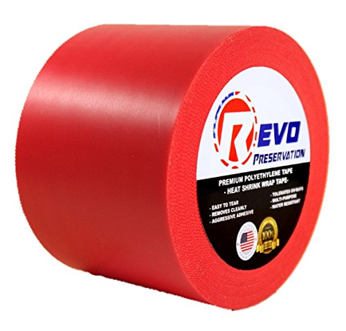 revo-preservation-tape-heat-shrink-wrap-tape-4-x-60-yards-made-in-usa-red-poly-tape-electrical-tape-