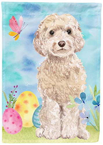 Caroline's Treasures BB9620GF Champagne Cockapoo Easter Decorative Garden Flag, Size