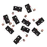 SODIAL(R) 10 Pcs Mini Micro Limit Switch Roller Lever Arm SPDT Snap Action LOT