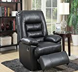 Serta Big & Tall Memory Foam Massage Recliner, Leather, Gray & Black With Deep Soft Body Pillows And Memory Foam In Seat