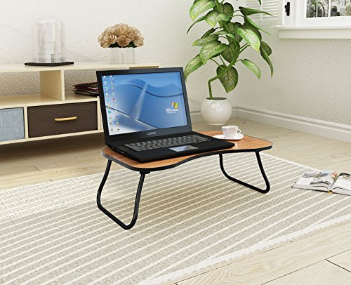 """Home-Like Portable Laptop Table Lap Desk Drafting Table Bed Table Sofa Table Versatile Table Foldable Bed Tray Notebook Stand Mini Picnic Table Floor Table Reading Table (08-9.64""""H-Brown)"""