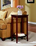 Rosewood Solid Wood Tall Side and Corner End Table, Coffee Brown