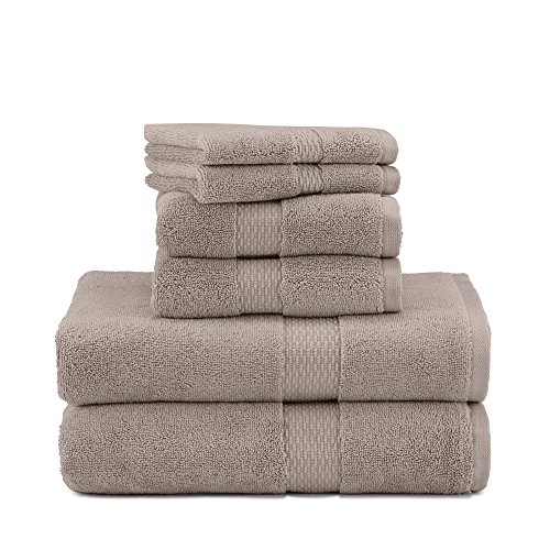 Under the Canopy Organic Cotton 6 Towel, 6 Piece Set, Stone
