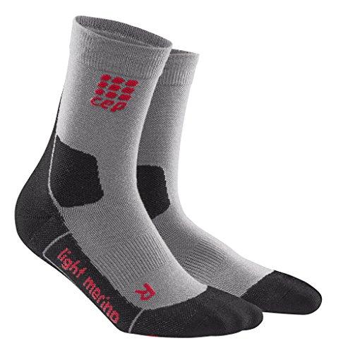 CEP Mens Dynamic+ Outdoor Light Merino mid-Cut Socks, Men, Volcanic Dust, IV (Pikes Train)