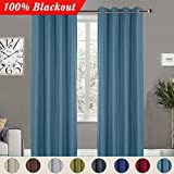 CIMBOO Darkening Thermal Insulated Blackout Window Curtains, Drapes For Living Room Bedroom – Water Resistance (1 – Panel, 52 x 84 Inches, Teal) For Sale