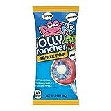 JOLLY RANCHER Filled Candy Lollipop, Halloween Candy, Triple Pop, 18 Count