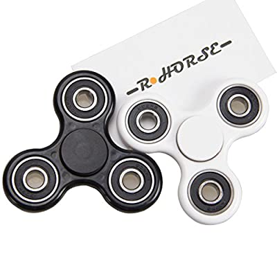 R Horse Tri-Spinner Fidget Toy 3D Printing Ceramic Bearing EDC Focus Toy for Killing Time,Guarantee 1 min Spin Time!
