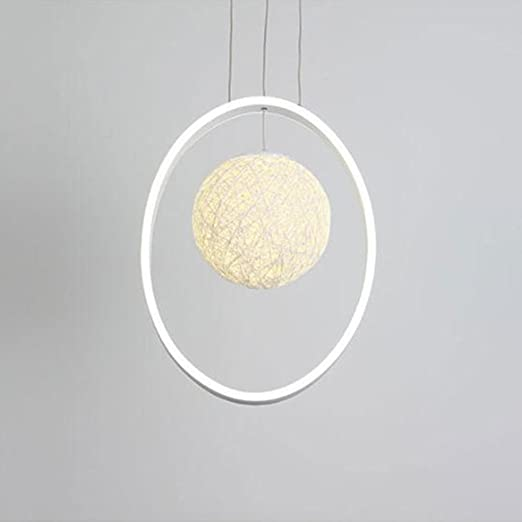 Lights & Lighting White Finished Led Circle Modern Chandelier Lights For Living Room