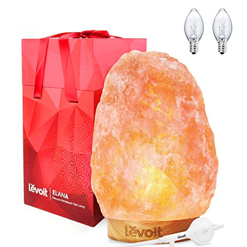 Levoit Elana Himalayan Salt Lamp Hand Carved Natural Himilia
