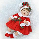 PSFS Lifelike Reborn Doll Soft Silicone Full Body Realistic Girl Playmate Doll Vinyl Reallike Handmade Newborn Baby Doll with Clothes 40cm, Kids Gift for Ages 3+ (Multicolor 2)