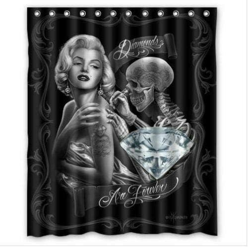 Marilyn Monroe #90 - Calavera de Tatuaje, Tela Duradera ...