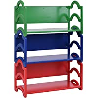 Costzon Kids Bookshelf, 3 Shelf Storage Rack, Toy Display Organizer Holder Bookcase