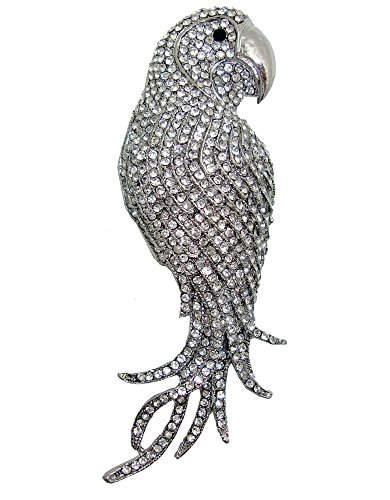 Crystal Parrot Pin (TTjewelry 4.45