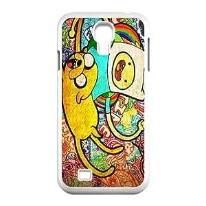 Diy Adventure Time Cartoon Cell Phone Case, DIY Durable Cover Case for SamSung Galaxy S4 I9500 Adventure Time Cartoon
