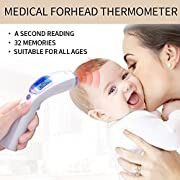 Fond Forehead Baby Thermometer Rechargeable Infrared Thermometer White