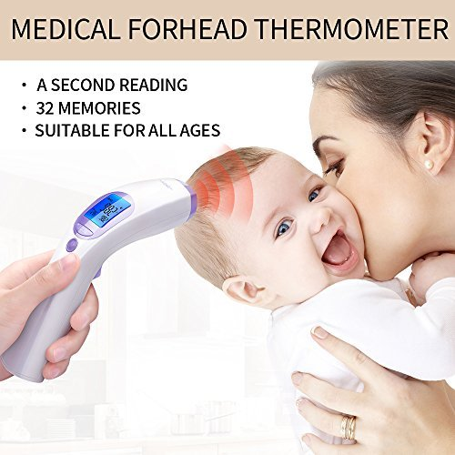 Fond Rechargeable Baby Forehead Infrared Thermometer, White