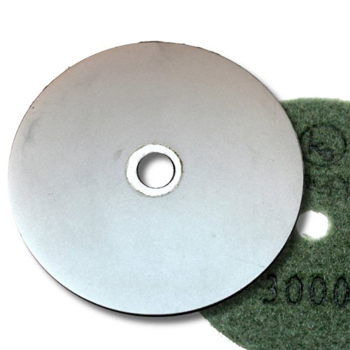 KENT 4'' Grit 3000 Diamond Coated Flat Lap Disc Wheel with Hook and Loop Backing by Kent Blades