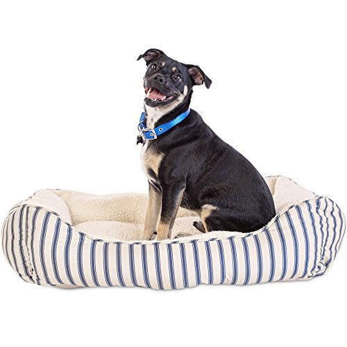 Harmony Blue Striped Nester Dog Bed, 32