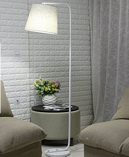 Nilight フロアスタンド フロアライト 電気スタンド アルコランプ 書斎 寝室 LED おしゃれ (白支柱) B06XZ1Q1FC 白支柱