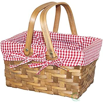 Amazon Com Rurality Wicker Picnic Basket Hamper With Lid