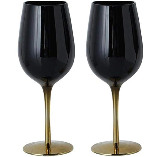 Copa de Vino de Vidrio, Copa de champán de Vidrio Negro ...