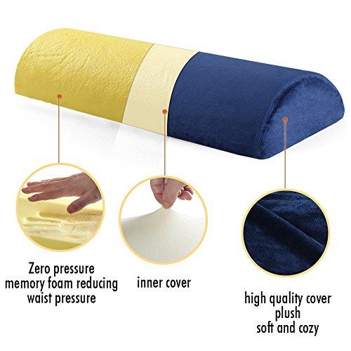 Cozy Hut Memory Foam Semi Roll Pillow Half Moon Bolster