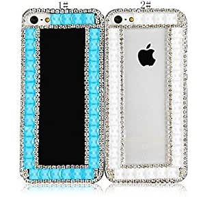 LCJ Simple Design with Diamond Back Case for iPhone 4/4S (Assorted Color) , 1# by icecream design