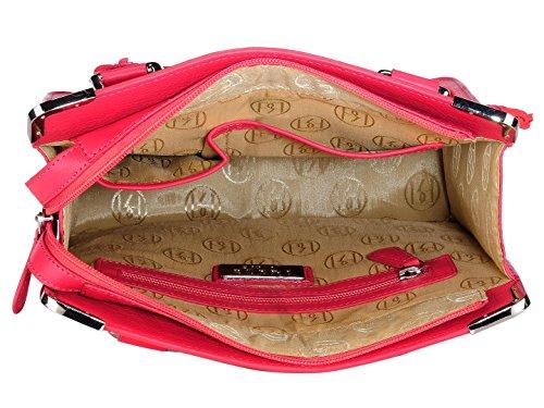 UK Rivers Structuré à PR914 Abby Cuir PHIVE framboise Phive main RIVERS rouge Sac 4q5xpwF